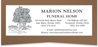 Marion Nelson Funeral Home
